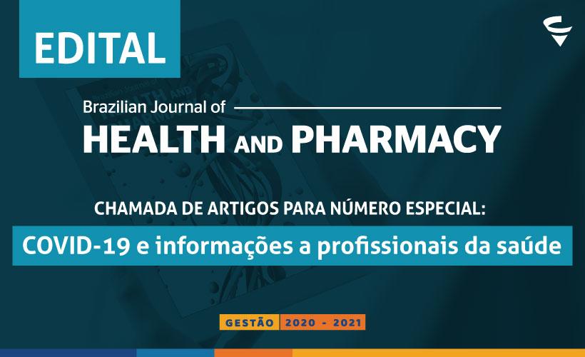 Chamada de artigos para número especial da revista científica do CRF/MG: COVID-19 e informações a profissionais da saúde